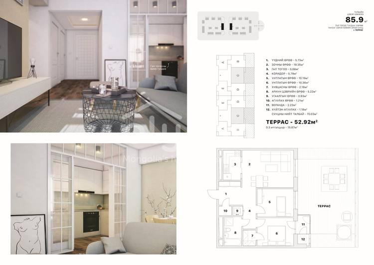 ID 2369, Khoroo 8 байршилд for sale зарын residential Apartment төсөл 1