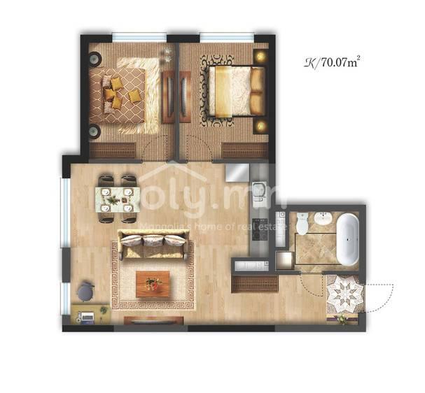 ID 2334, Khoroo 26 байршилд for sale зарын residential Apartment төсөл 1